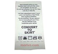 Tem nhãn vải Attirable Polyester