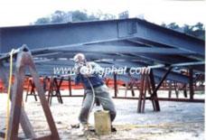 Phủ composite bề mặt thanh đà thép