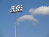 Cột đèn nâng hạ sân vậ động