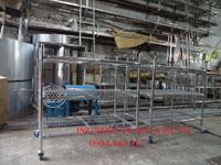 Xe đẩy hàng inox lắp ráp 3 tầng