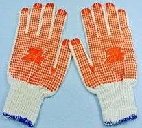 Găng tay len chấm PVC