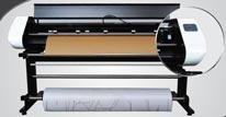 Máy cắt rập cứng rập mềm in phun đa năng 2 trong 1 Sina Jet Vertical Cutter