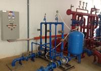 Lắp đặt thiết bị hệ thống xử lí nước cấp
