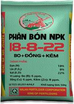 Phân bón NPK 18-8-22+TE