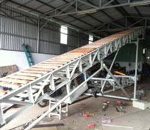 Băng tải xích gỗ