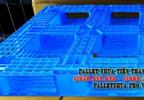 Pallet Nhựa 1100x1100x120mm màu xanh nhạt