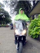 áo mưa kính đèn lớn