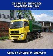 Xe chở rác thùng rời Dongfeng