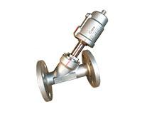 Van xiên inox 304/316 điều khiển khí nén nối bích JIS10K Double Acting