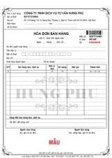 In hóa đơn đỏ hóa đơn VAT