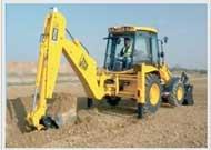Cho thuê Xe xúc lật kết hợp đào