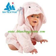 Khăn tắm áo choàng cho bé