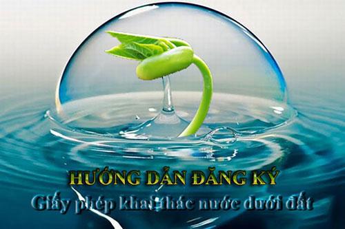 HD thủ tục xin phép khai thác nước ngầm