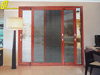 Cửa lưới lùa chống trộm nhôm Xingfa