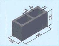 Gạch bê tông 2 lỗ TET