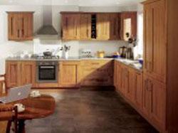 Tủ bếp gỗ sồi bắc mỹ