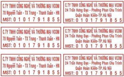 Khắc dấu mã số thuế
