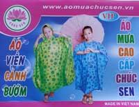 áo mưa choàng hoa trẻ em