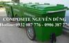 Thùng rác Composite bánh hơi 660 lít
