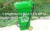 Thùng rác Composite đạp chân 120 lít