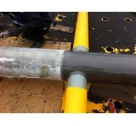 Bọc Composite FRP khung sắt thép