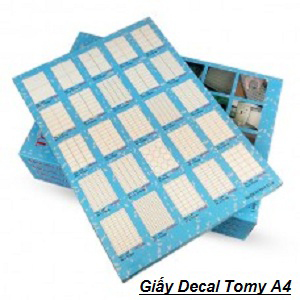Giấy decal tomy A4