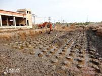 Cọc xi măng đất gia cố nền đường