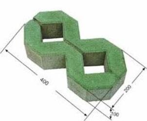 Gạch Block trồng cỏ 2 lỗ