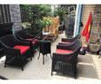 Bàn ghế nhựa sân vườn HTT 021