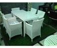 Bàn ghế nhựa sân vườn HTT 022