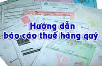 Báo cáo thuế quý