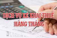 Báo cáo thuế tháng