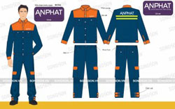 Mẫu quần áo bảo hộ cho cty An Phát