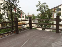 Hàng rào băng gỗ nhựa