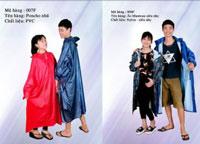 áo mưa vải nhựa PVC