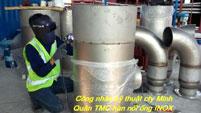 Thi công lắp đặt đường ống Inox
