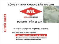 Bột Dolomite sữa18-22%
