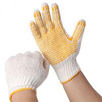 Găng tay len chấm nhựa