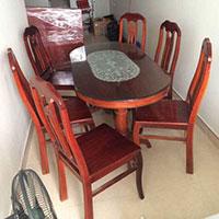 Bộ bàn ăn gỗ xoan đào