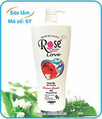 Sữa tắm hương hoa hồng