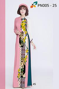 Mẫu áo dài in họa tiết
