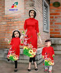 Mẫu áo dài mẹ và bé