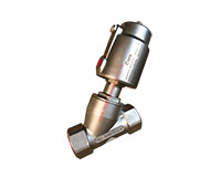 Van xiên 304/316 điều khiển khí nén nối ren JIS10K Single Acting