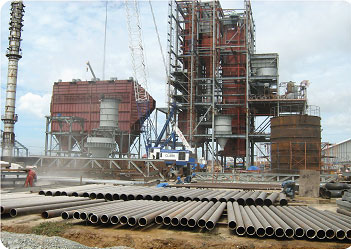 Gia công lắp đặt kết cấu thép