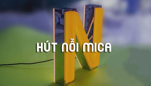 Bảng hiệu hút nổi Mica
