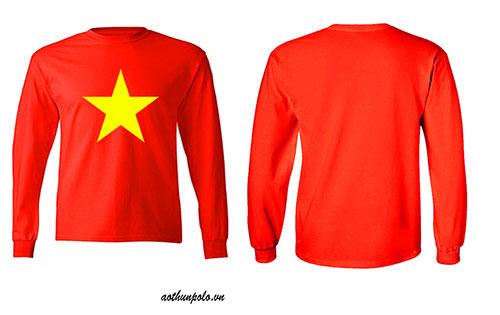 Áo thun cờ đỏ sao vàng tay dài