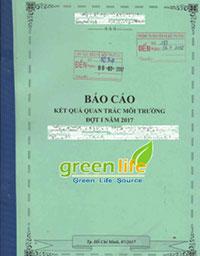 mẫu báo cáo quan trắc môi trường