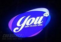 Thi công logo Youtv