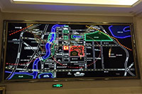 Mô hình sa bàn mô tả khu vực điện tử
