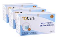 Khẩu trang y tế kháng khuẩn TDCare 3 lớp xanh